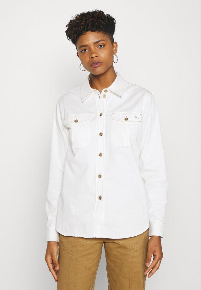 NERI - Button-down blouse - ecru
