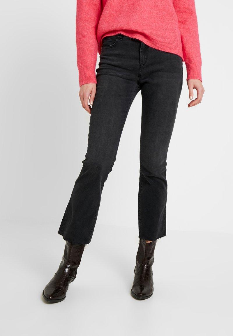 Ivy Copenhagen - JOHANNA KICK FLARE WASH USED EXCELLENT - Bootcut jeans - black