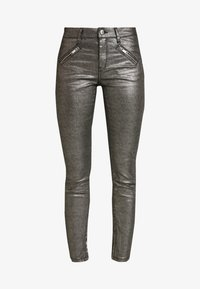 Ivy Copenhagen - TAYLOR ANKLE GLAM - Jeans Skinny Fit - coated denim/silver - 3
