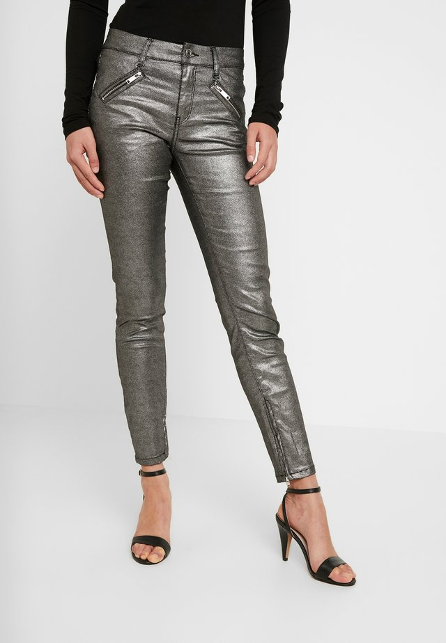 TAYLOR ANKLE GLAM - Jeans Skinny Fit - coated denim/silver
