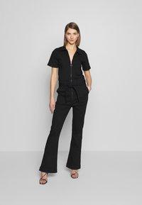 Ivy Copenhagen - CHARLOTTE FLARE TRACKSUIT COOL - Overall / Jumpsuit /Buksedragter - black - 1