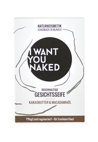 I WANT YOU NAKED - FACE SOAP 100G - Savon en barre - kakaobutter & macadamia-öl - 1
