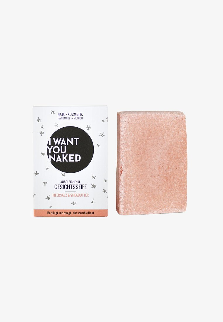 I WANT YOU NAKED - FACE SOAP 100G - Savon en barre - meersalz & sheabutter