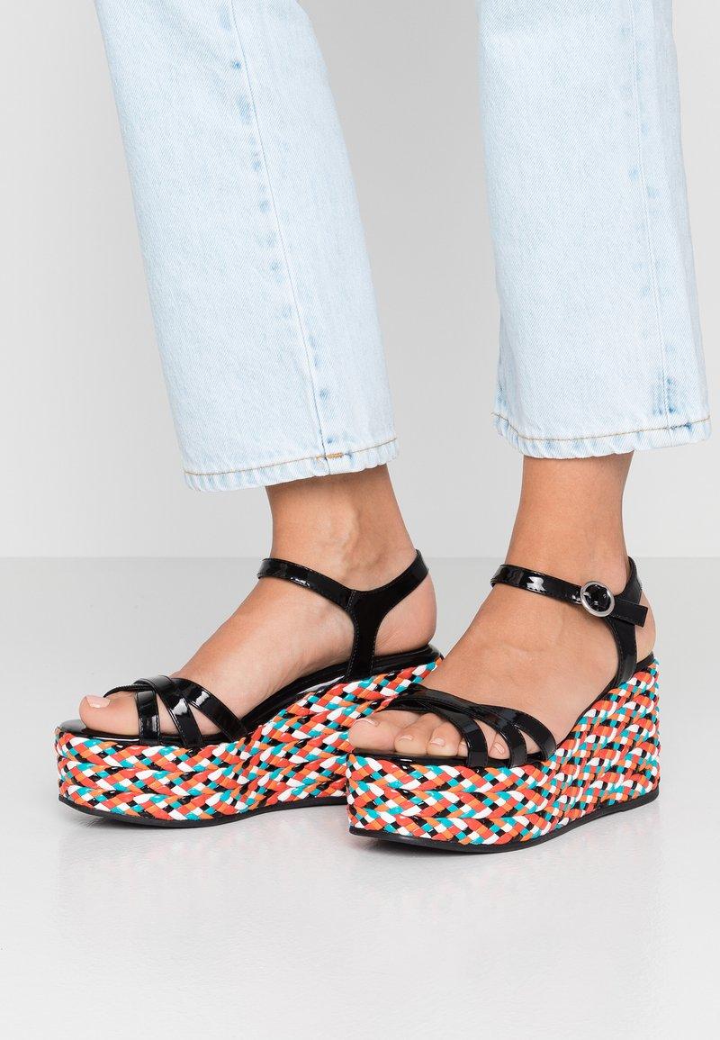 Sixtyseven - High heeled sandals - black/orange