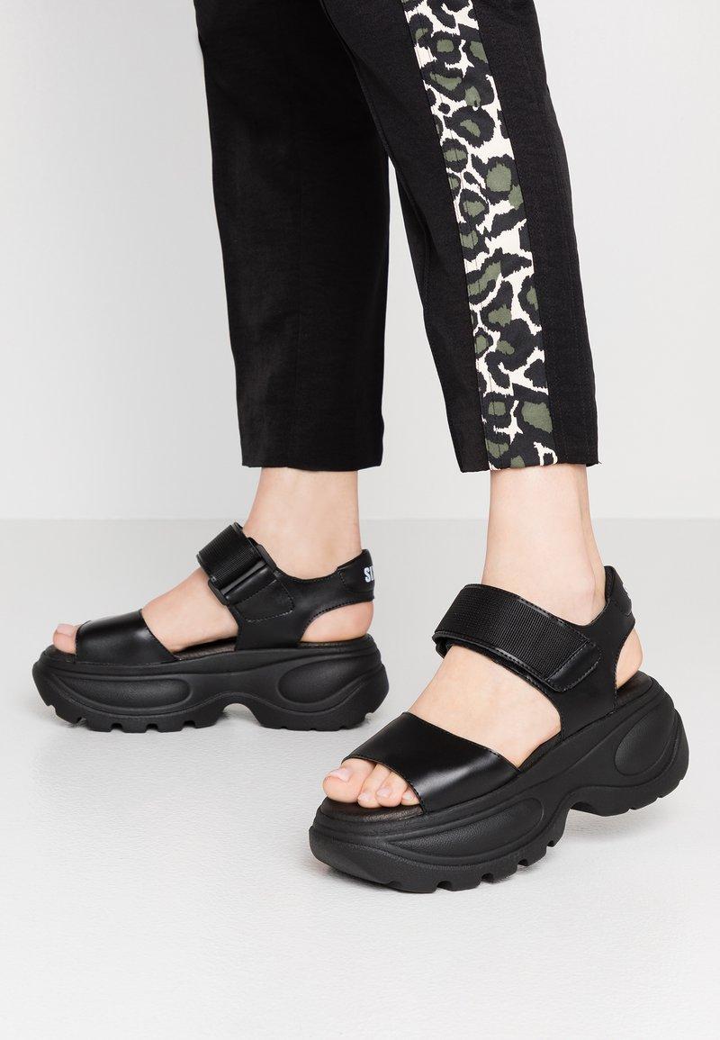 Sixtyseven - Platform sandals - actled black
