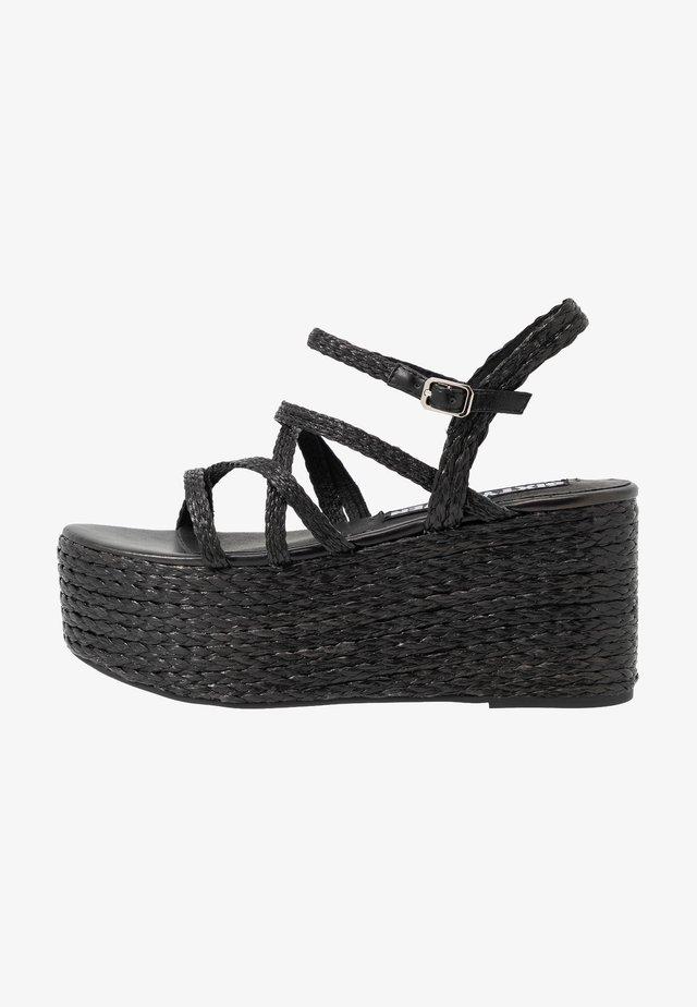 NALIA - Korolliset sandaalit - black