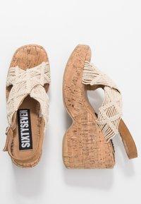 Sixtyseven - NOISE - Sandály na vysokém podpatku - beige/tan - 3