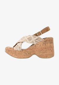 Sixtyseven - NOISE - Sandály na vysokém podpatku - beige/tan - 1