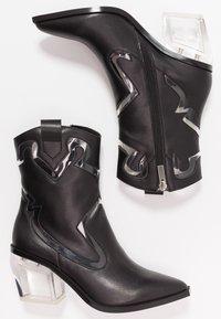Sixtyseven - BONE - Cowboy/biker ankle boot - black/transparent - 3