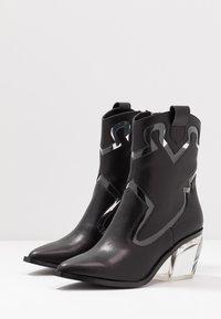 Sixtyseven - BONE - Cowboy/biker ankle boot - black/transparent - 4
