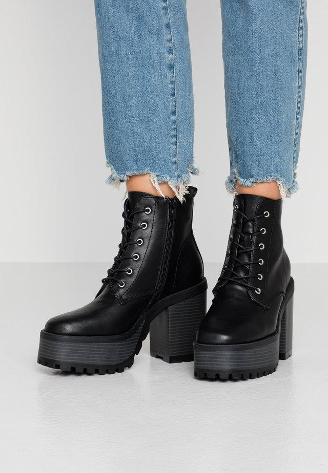 CRUSH - High heeled ankle boots - nepal black