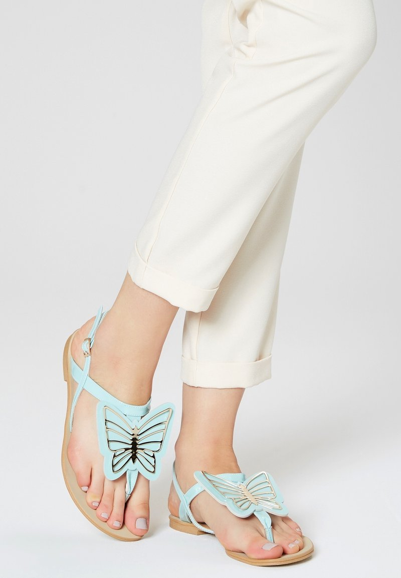 IZIA - T-bar sandals - light blue