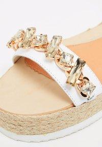 IZIA - Platform sandals - white - 6