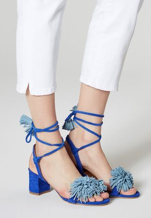 Ankle cuff sandals - turquoise
