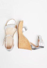 IZIA - High heeled sandals - silver - 2