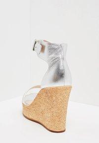 IZIA - High heeled sandals - silver - 4