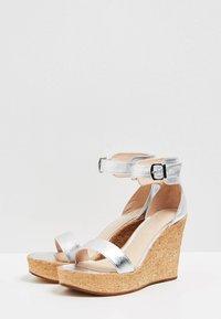 IZIA - High heeled sandals - silver - 3