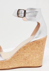 IZIA - High heeled sandals - silver - 6