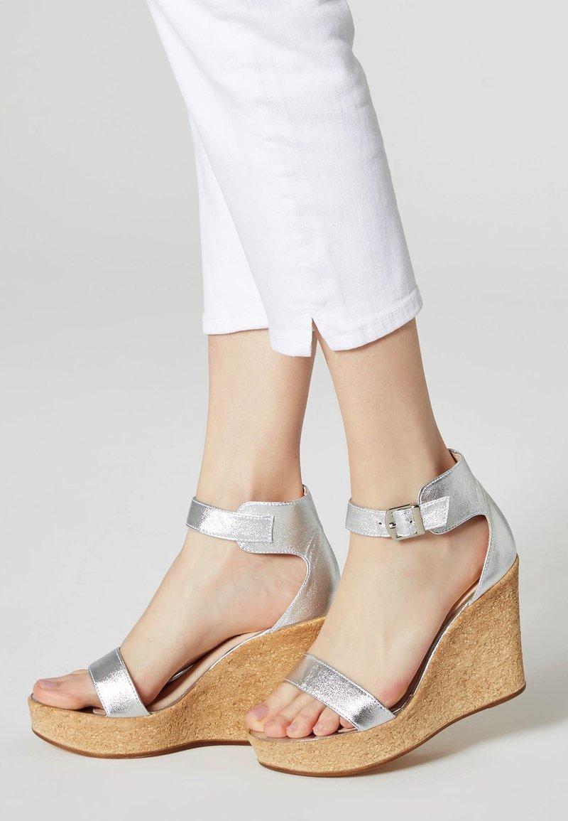 IZIA - High heeled sandals - silver