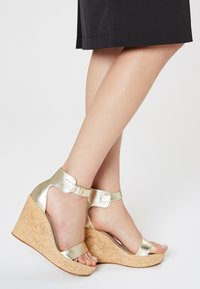 IZIA - High heeled sandals - gold - 0