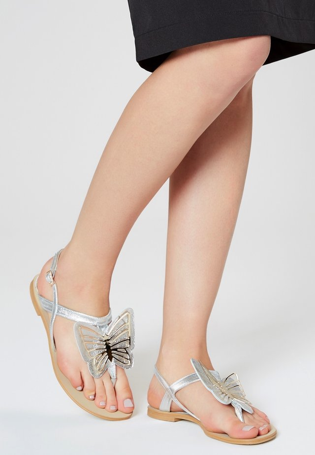 T-bar sandals - silver-coloured