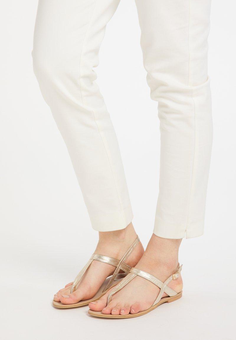 IZIA - T-bar sandals - gold
