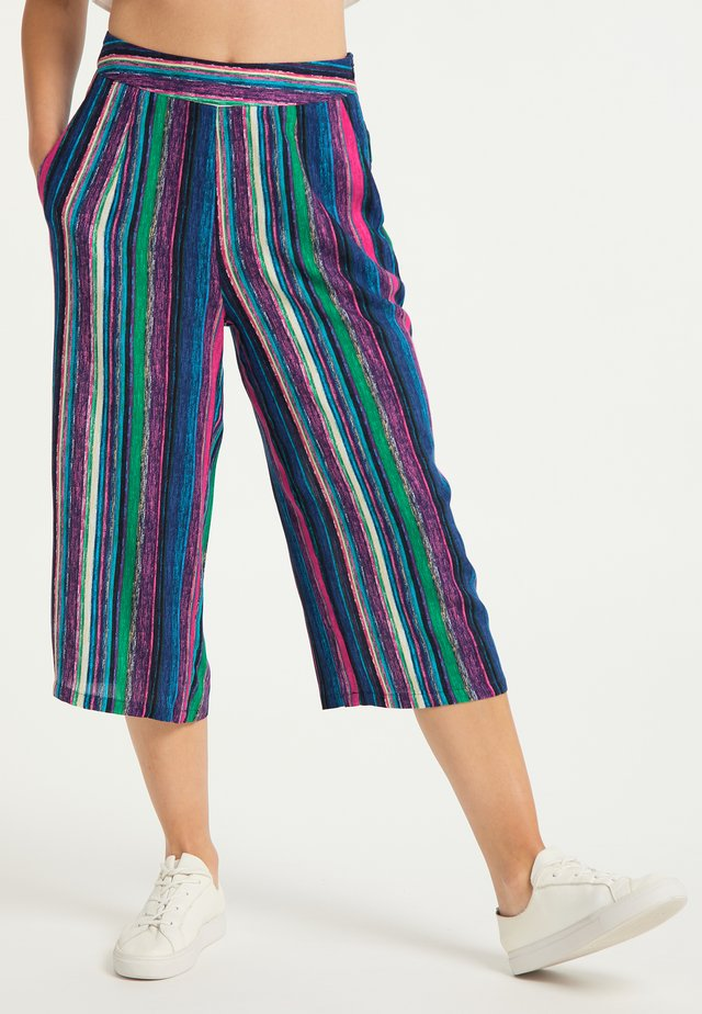 Trousers - multicolor gestreift