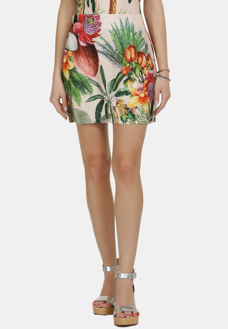 IZIA - IZIA ROCK - A-line skirt - tropical print