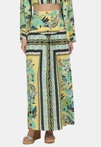IZIA - IZIA ROCK - Maxi skirt - tropical print - 0