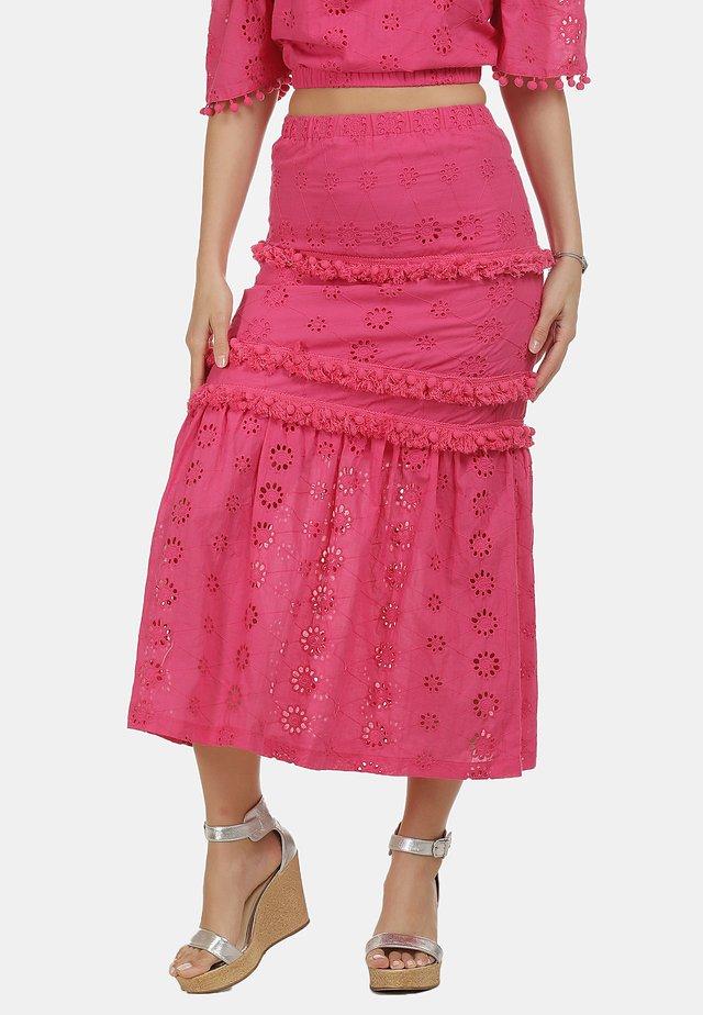 IZIA ROCK - Maxi sukně - pink