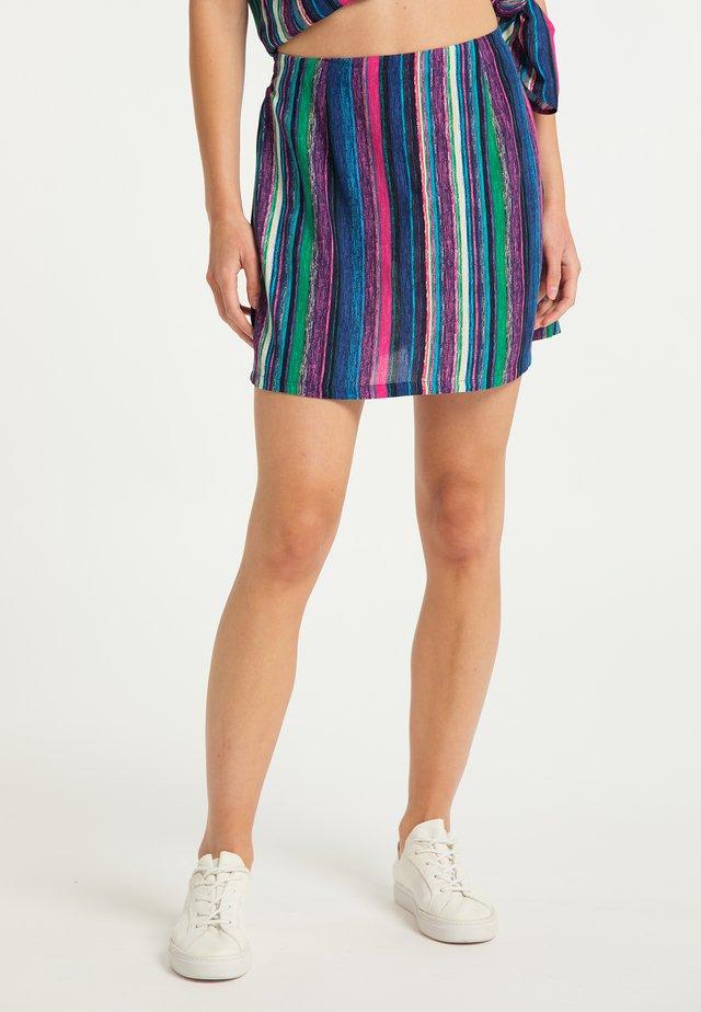 A-line skirt - multicolor gestreift