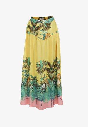 Pleated skirt - tropical print