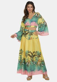 IZIA - Pleated skirt - tropical print - 1