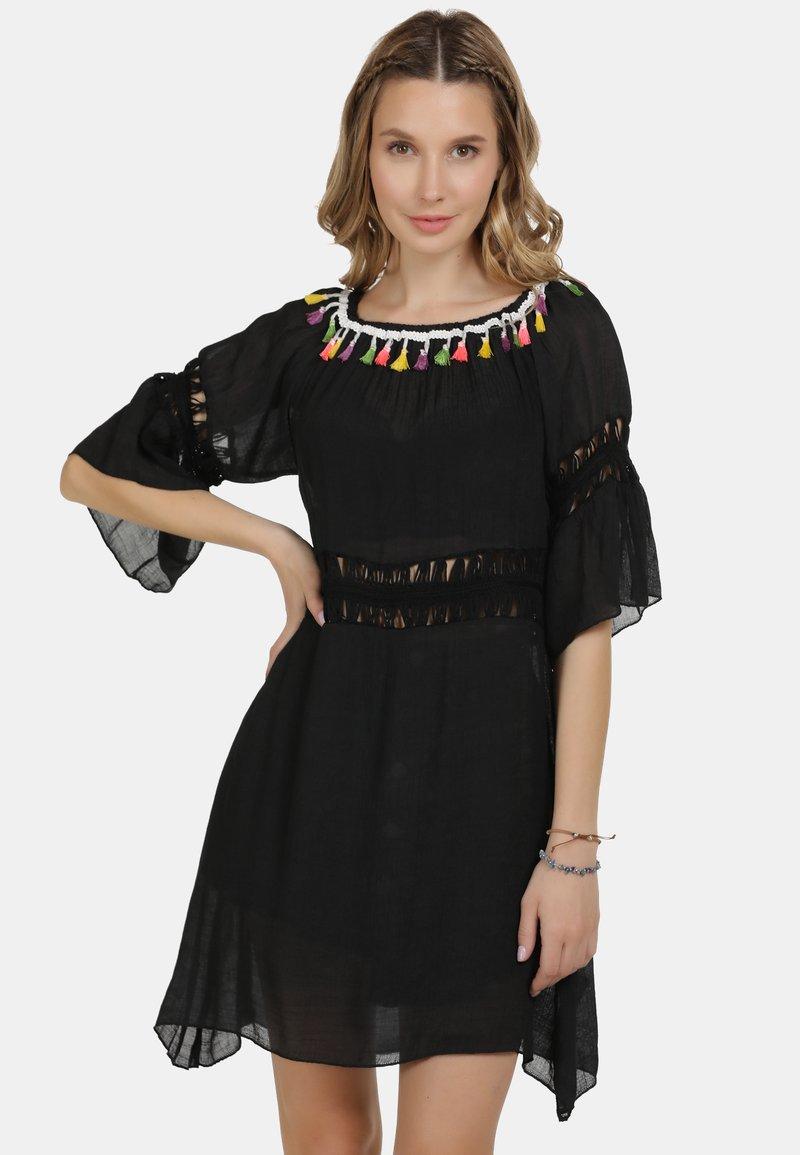 IZIA - IZIA KLEID - Day dress - schwarz