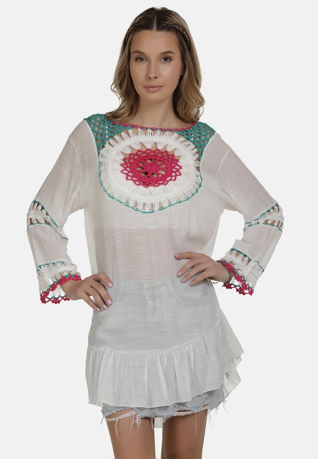 IZIA TUNIKAKLEID - Korte jurk - wollweiss