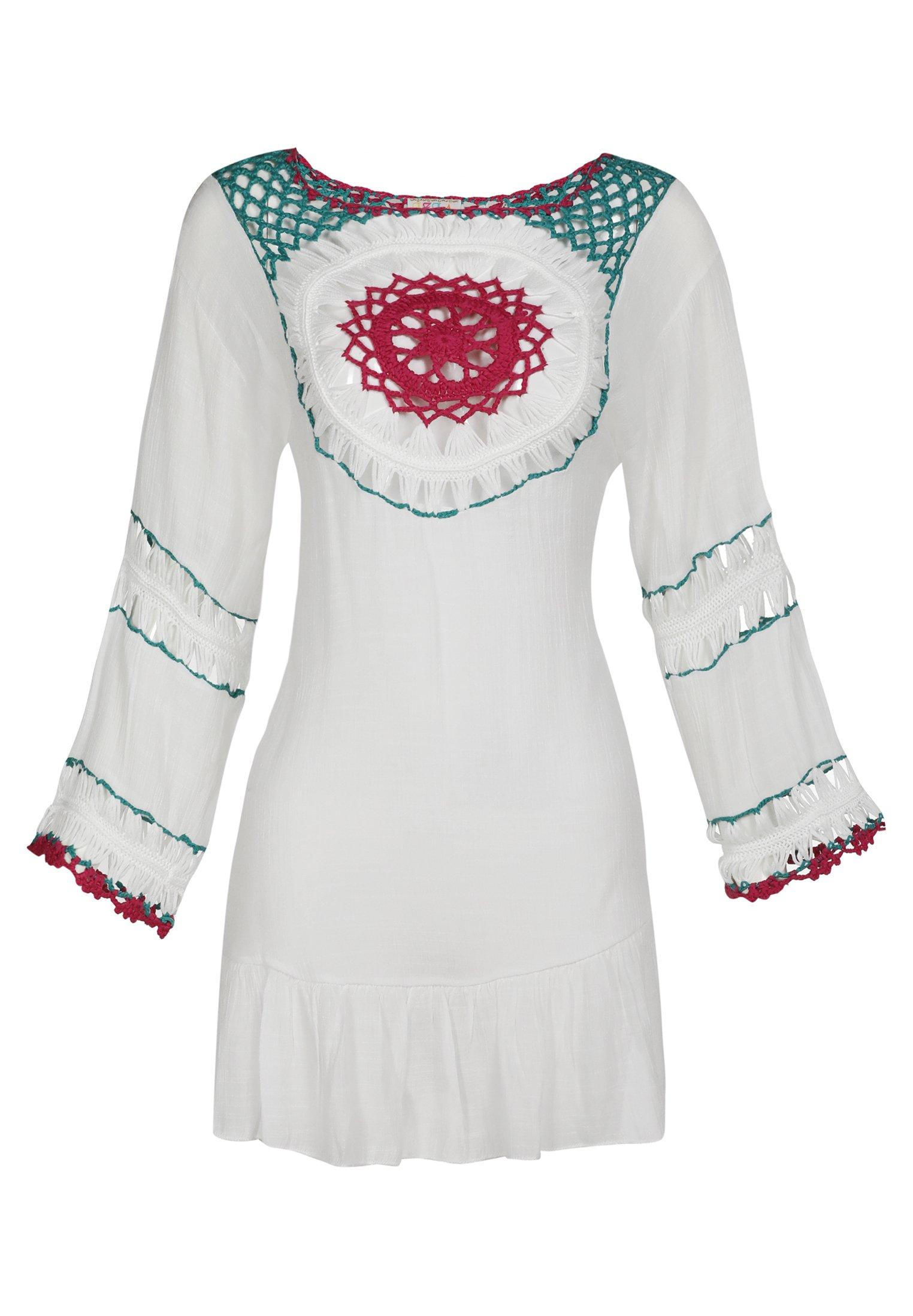 IZIA IZIA TUNIKAKLEID - Korte jurk - wollweiss