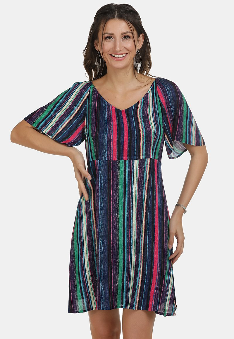 IZIA - Day dress - multicolor gestreift