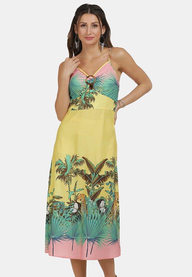 Robe d'été - tropical print