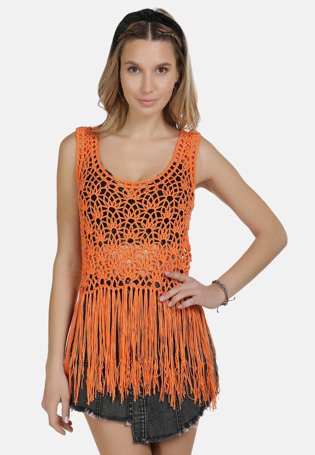 IZIA TOP - Linne - orange