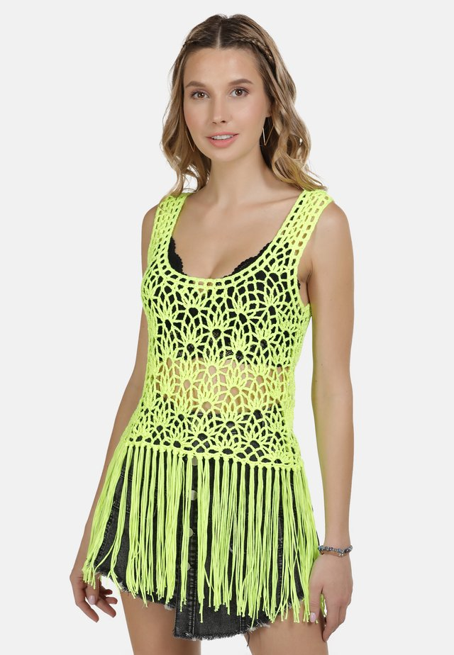 IZIA TOP - Débardeur - neon gelb