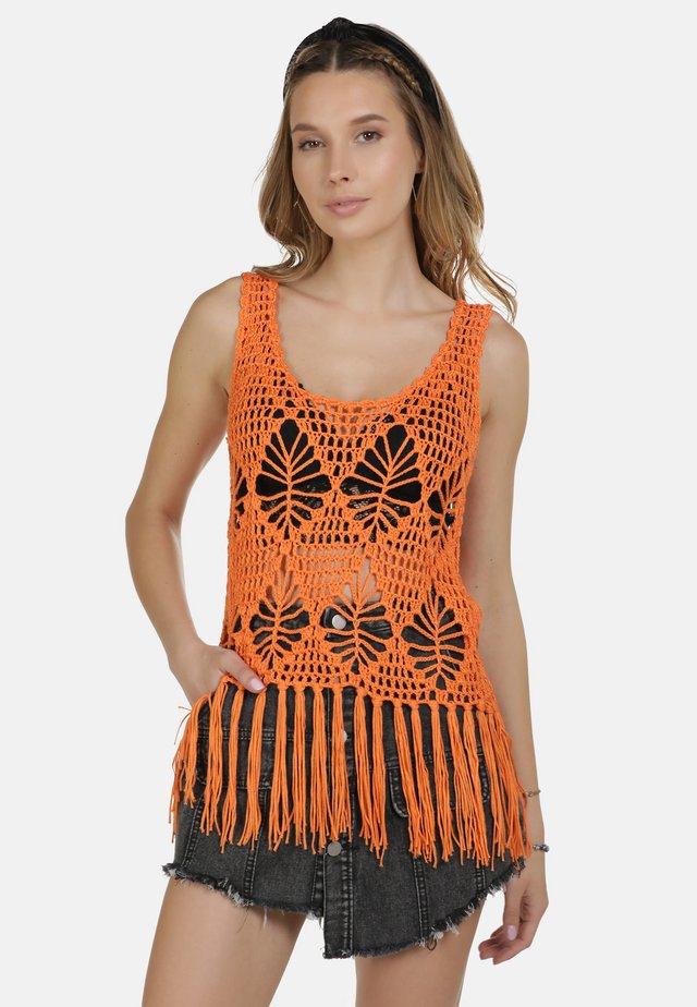 IZIA TOP - Top - orange
