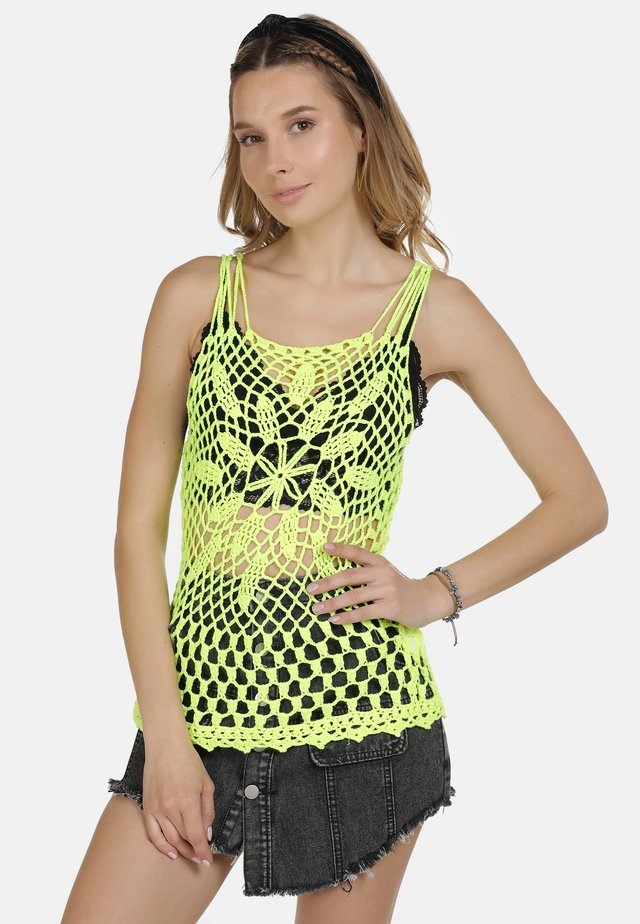 IZIA HÄKELTOP - Top - neon yellow