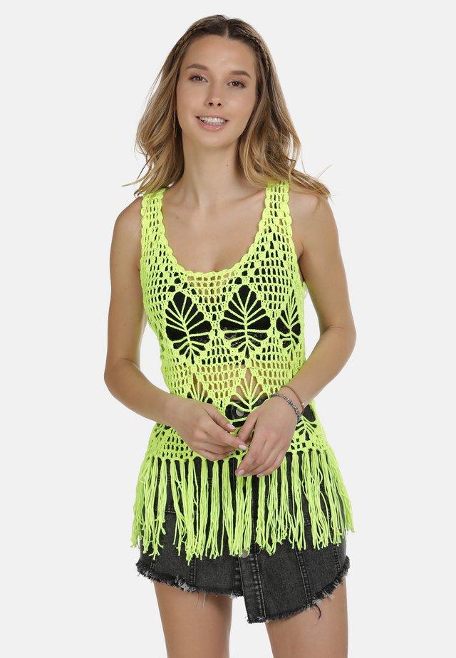 IZIA TOP - Linne - neon gelb