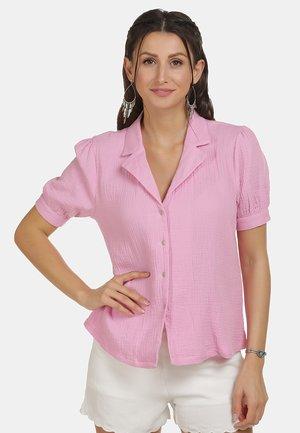 IZIA BLUSE - Button-down blouse - rosa
