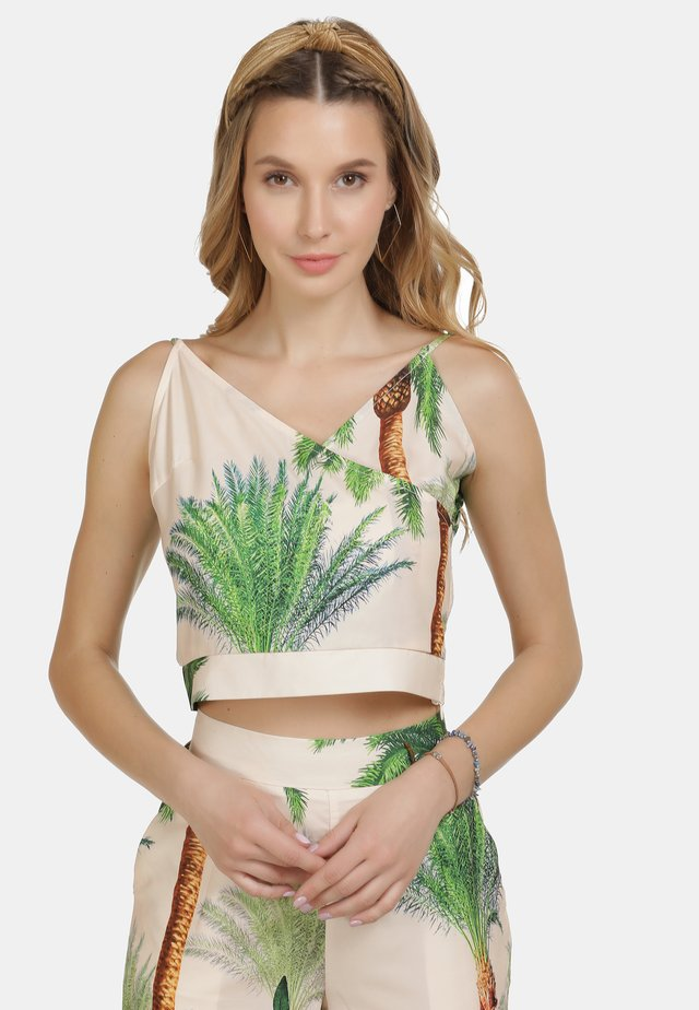 IZIA TOP - Linne - tropical print
