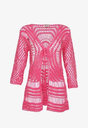 IZIA HÄKELJACKE - Kofta - neon pink