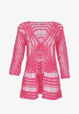IZIA HÄKELJACKE - Kardigan - neon pink