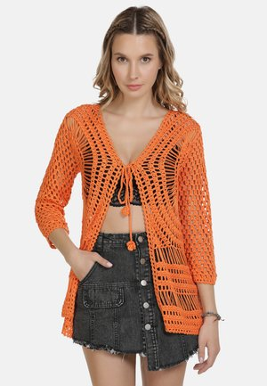 IZIA STRICKJACKE - Cardigan - orange