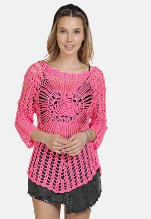 IZIA HÄKELPULLOVER - Svetr - neon pink