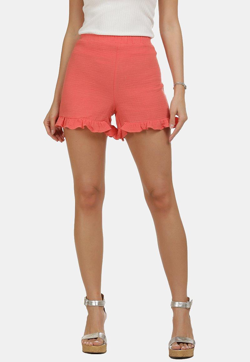 IZIA - IZIA SHORTS - Shorts - pfirsich